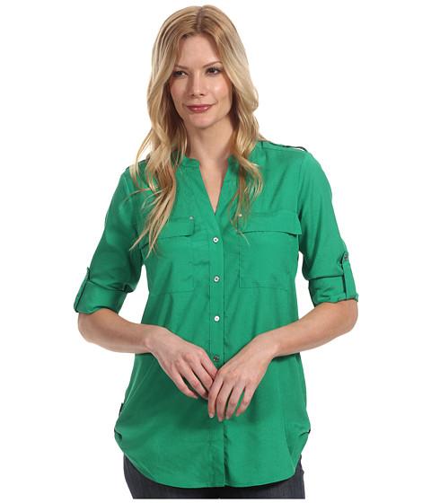 Tricouri Calvin Klein - Crew Neck Roll Sleeve Top - Emerald