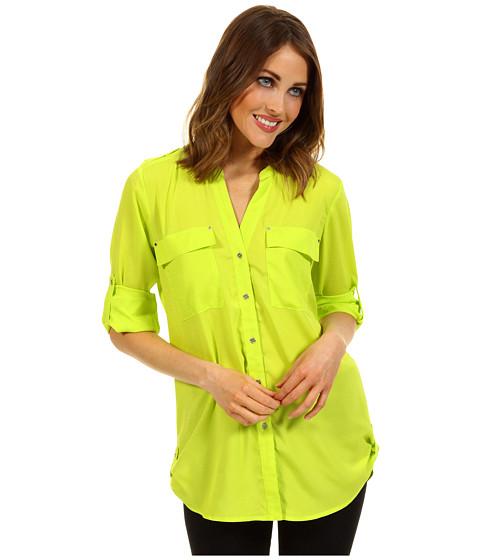 Tricouri Calvin Klein - Crew Neck Roll Sleeve Top - Oasis