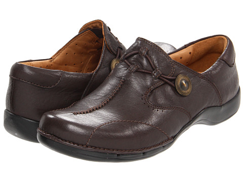 Pantofi Clarks - Un.maple - Dark Brown Leather