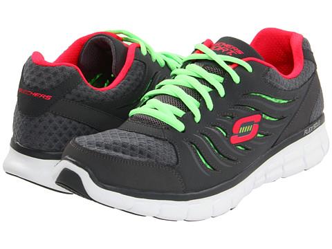 Adidasi SKECHERS - Synergy - Charcoal/Green