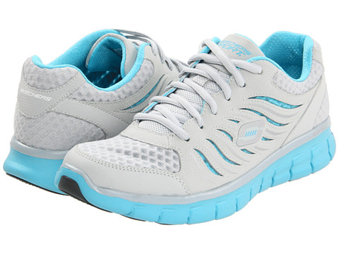 Adidasi SKECHERS - Synergy - Light Grey/Blue