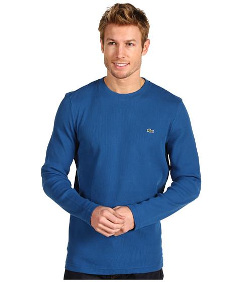 Bluze Lacoste - Crew Neck Waffle T-Shirt - Baltic