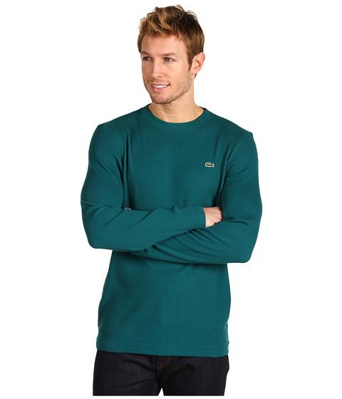 Bluze Lacoste - Crew Neck Waffle T-Shirt - Ivy