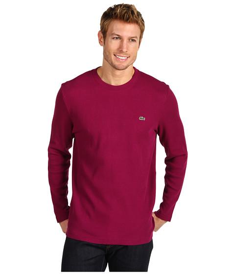 Bluze Lacoste - Crew Neck Waffle T-Shirt - Tannic
