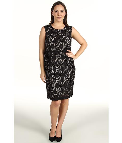Rochii DKNY - Plus Size Cotton Lace Dress - Jet