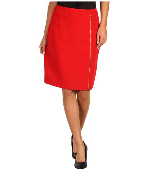 Fuste Calvin Klein - Skirt w/ Zippers - Rouge