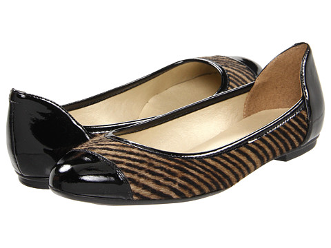 Balerini French Sole - Greetings - Taupe Stripe Haircalf