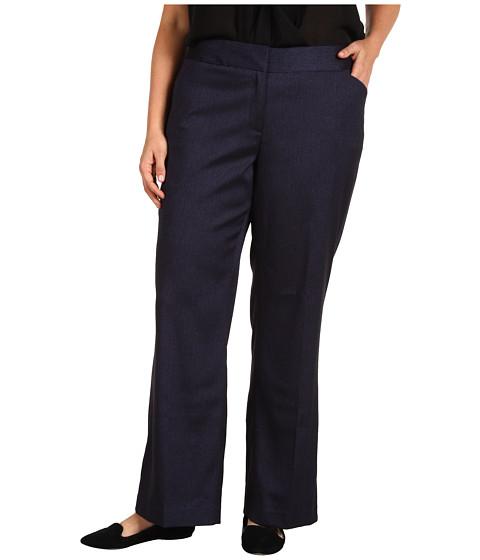 Pantaloni Anne Klein - Plus Size Herringbone Pant - Navy