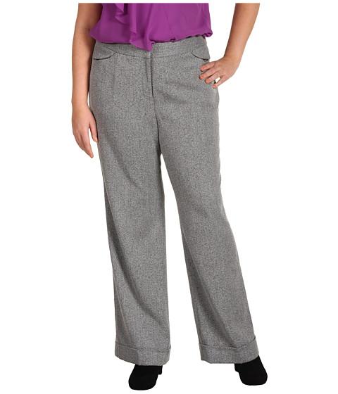 Pantaloni Anne Klein New York - Plus Size Tweed Wide Leg Pant - Black Multi