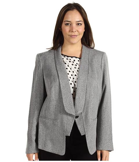 Jachete Anne Klein - Plus Size Tweed One Button Jacket - Black Multi