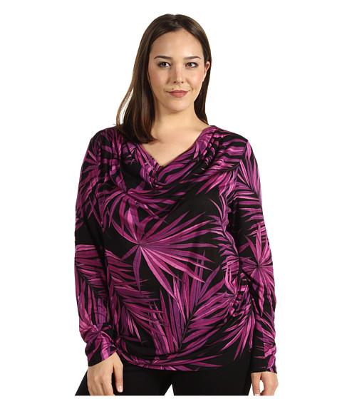 Bluze Michael Kors - Plus Size L/S Pleated Shoulder Top - Peony