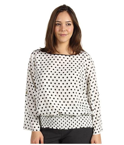 Bluze Michael Kors - Plus Size Pan Dot D-Ring Kimono Top - Ecru