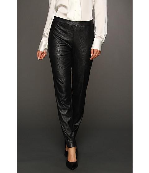 Pantaloni Anne Klein - Faux Snakeskin Pant - Black