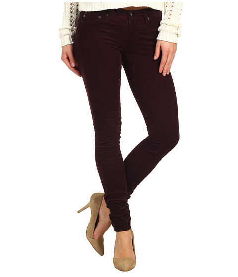 Pantaloni AG Adriano Goldschmied - The Legging Houndstooth Velvet Corduroy - Houndstooth Wine
