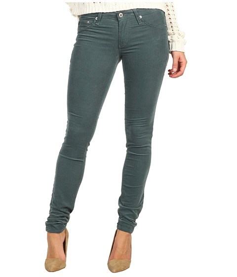 Pantaloni AG Adriano Goldschmied - The Legging Velvet Corduroy - Sea Mist