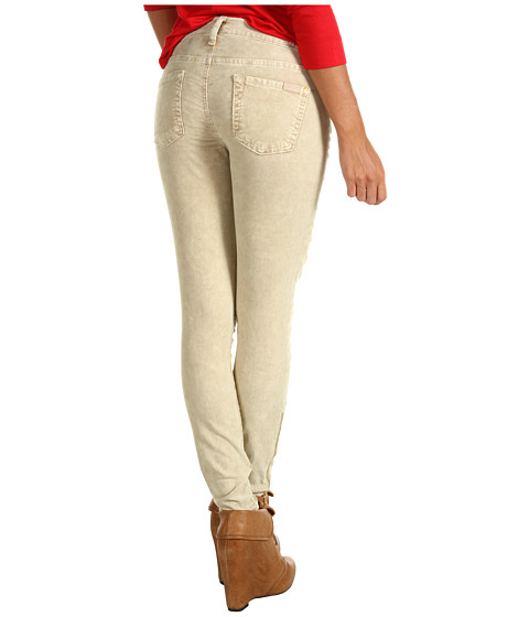 Pantaloni 7 For All Mankind - The Skinny w/ Zip Pebbled Washed Cord - Vanilla