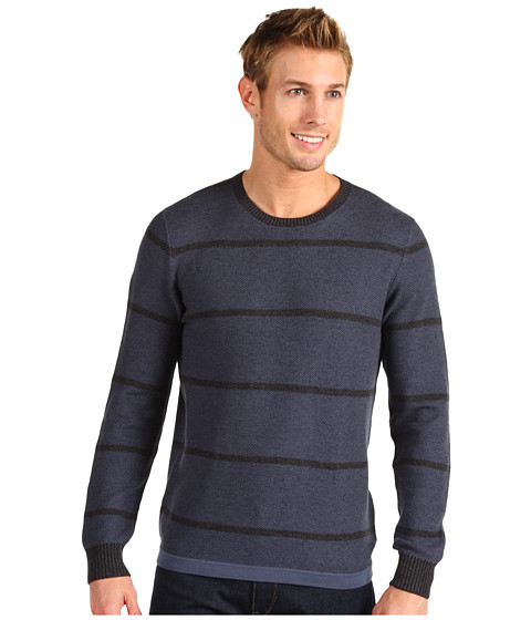 Bluze 7 For All Mankind - L/S Plaited Stripe Crew - Arctic Blue