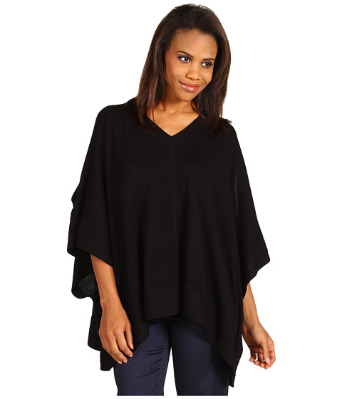 Pulovere Anne Klein - V-Neck Poncho - Black