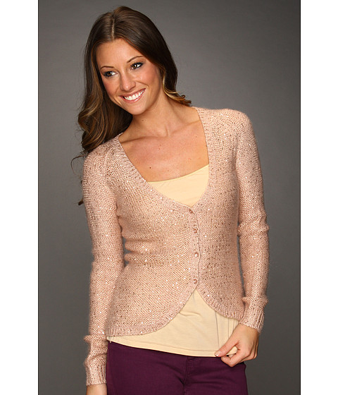 Pulovere DEPT - Sequin Knitted Cardigan - Pearl Bush