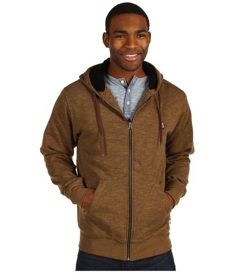 Bluze Volcom - Peps Lined Fleece Hoodie - Mocha