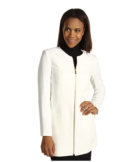 Jachete Calvin Klein - Topper Jacket w/ Zip - Winter White
