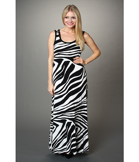 Rochii Calvin Klein - Printed Maxi Dress - Black Combo