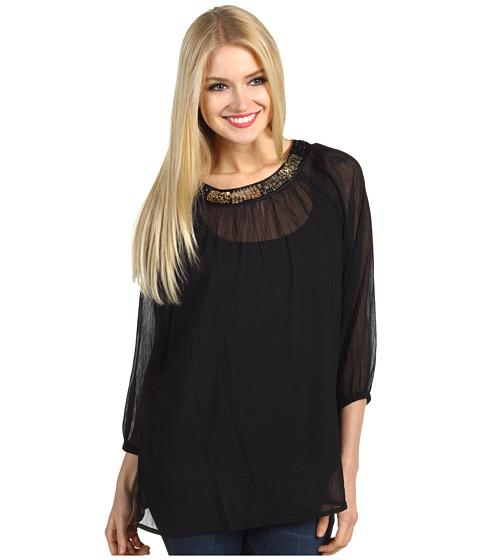 Bluze Christin Michaels - Marion Embellished Tunic - Black