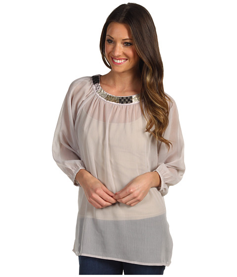 Bluze Christin Michaels - Marion Embellished Tunic - Grey