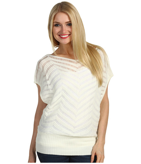 Tricouri Christin Michaels - Caddi Short Sleeve Sweater - Ivory