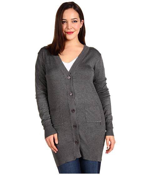 Bluze Christin Michaels - Plus Size Raffa Long Sleeve Cardigan - Grey