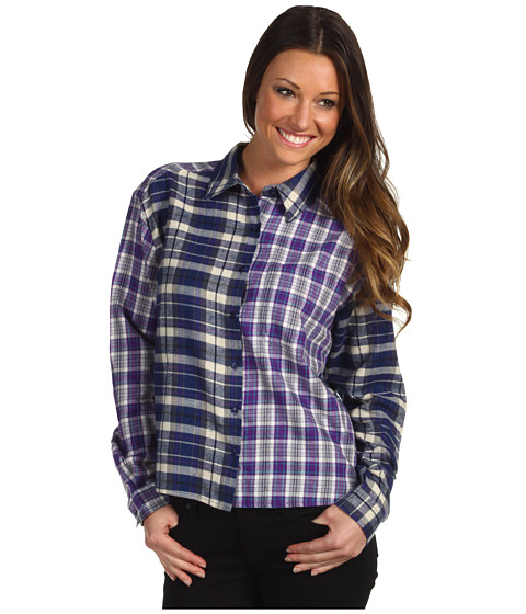 Bluze Gabriella Rocha - Wrenny Plaid Flannel Shirt - Blue/Purple