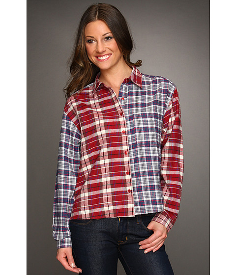 Bluze Gabriella Rocha - Wrenny Plaid Flannel Shirt - Red/Blue