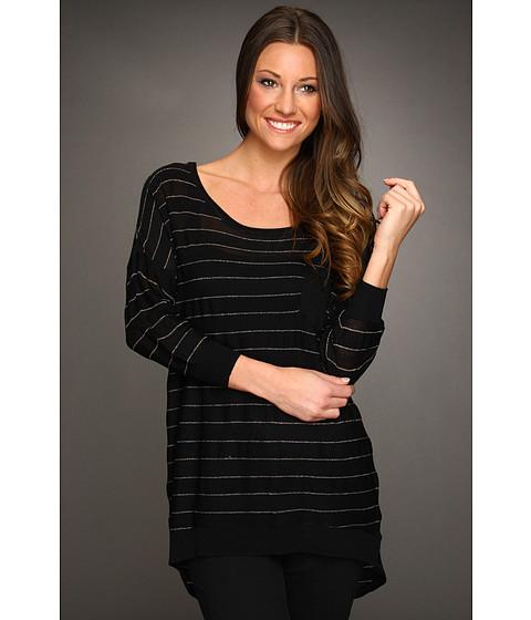 Bluze Christin Michaels - Kaci 3/4 Sleeve High-Low Sweater - Black