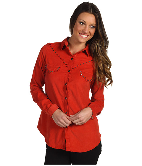 Bluze Gabriella Rocha - Yesenia Corduroy Button Up Top - Rust