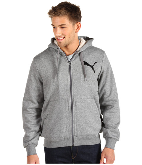 Bluze PUMA - Hooded Sherpa Hoodie - Medium Grey Heather