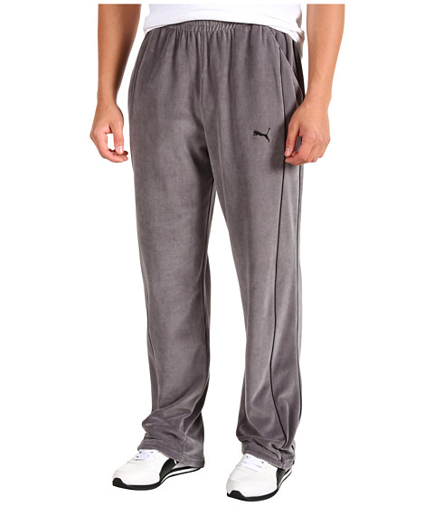 Pantaloni PUMA - Velour Pant - Castlerock/Black
