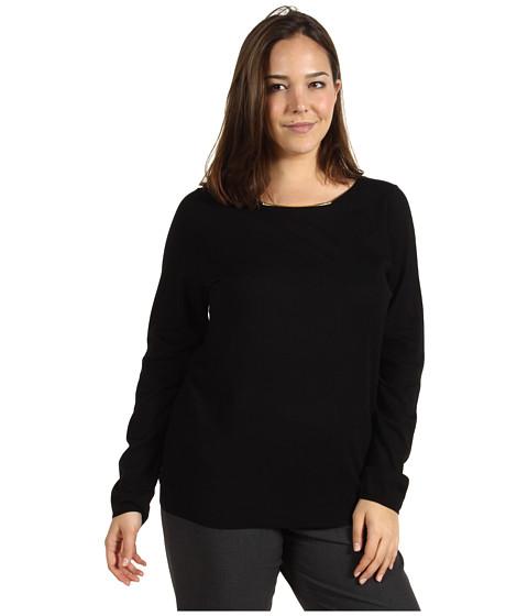 Tricouri Calvin Klein - Plus Size L/S Sweater w/ Hardware - Black