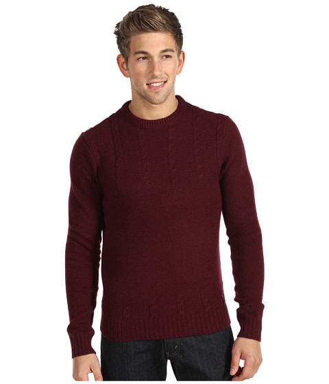 Pulovere Original Penguin - Cable Front Crew Sweater - Winetasting