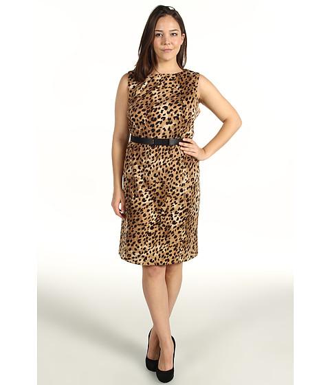 Rochii Calvin Klein - Plus Size S/L Seamed Dress - Black/Neutral