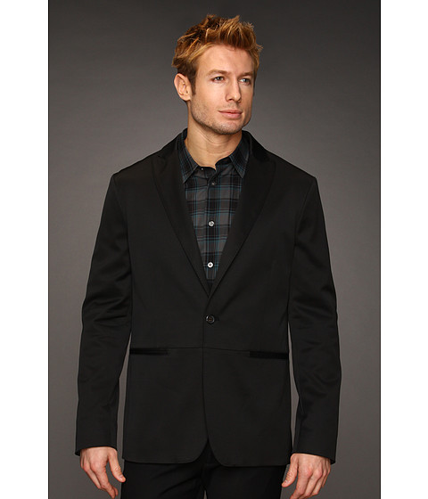 Jachete John Varvatos - One-Button Peak Lapel Jacket - Black