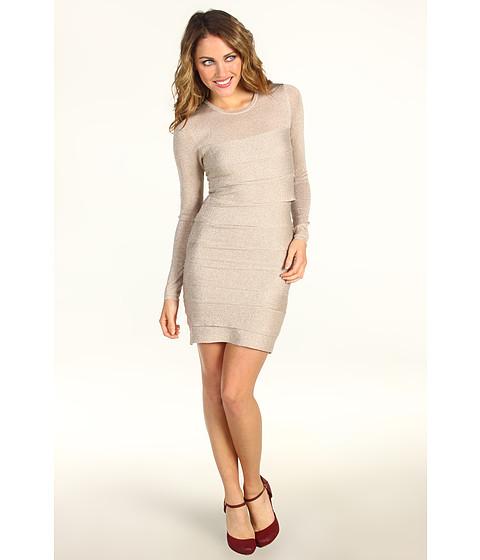 Rochii BCBGMAXAZRIA - Petite Mariah Sweater Dress - Sesame Combo