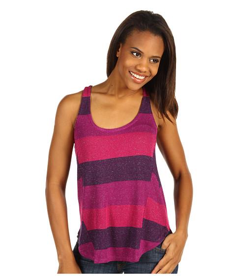 Tricouri Splendid - Bordeaux Stripe Loose Knit Tank - Shiraz