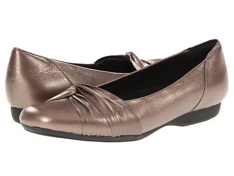 Pantofi Clarks - Chateau Manor II - Grey Metallic Leather