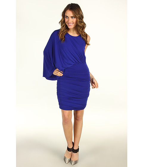Rochii BCBGMAXAZRIA - Draped One-Shoulder Cocktail Dress - Royal Blue