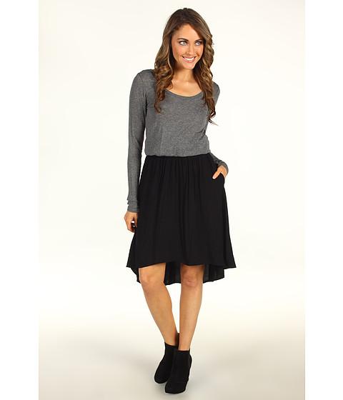 Rochii Splendid - High Low Dress - Grey/Black