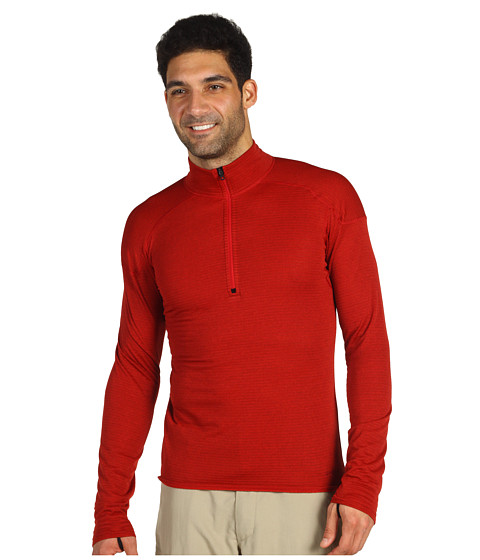 Tricouri Patagonia - Capileneî 4 Expedition Weight Zip-Neck - Molten Lava/Red Delicious Crossdye