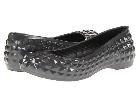 Balerini Crocs - Super Molded Patent Flat - Graphite