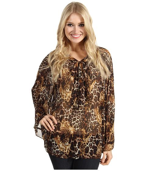 Bluze Christin Michaels - Jennyl Blouse - Brown/Multi