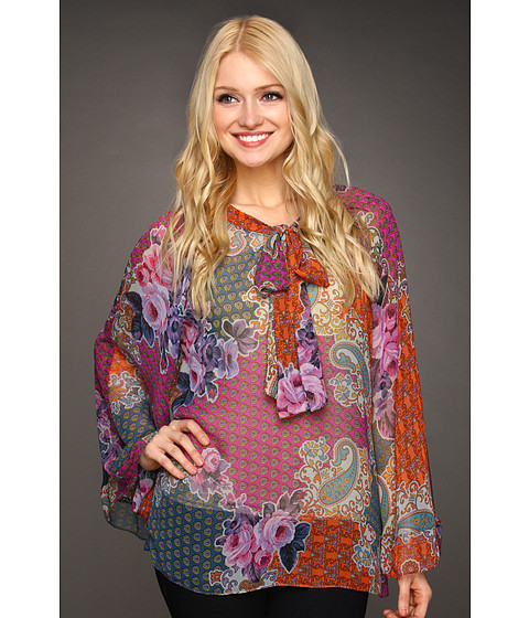 Bluze Christin Michaels - Jennyl Blouse - Fuchsia Multi