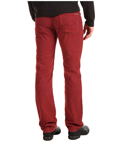Pantaloni 7 For All Mankind - Slimmy Slim Straight Corduroy - Spicy Red